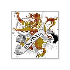 "MacMillan Tartan Lion Square Sticker 3"" x 3"""