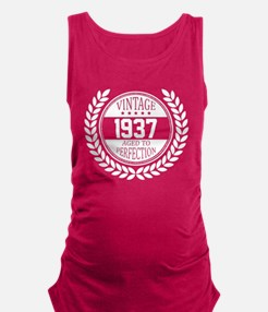 Vintage 1937 Aged To Perfection Maternity Tank Top