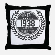 Vintage 1938 Aged To Perfection Throw Pillow