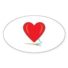 Sewing Heart Decal