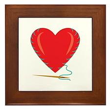 Sewing Heart Framed Tile