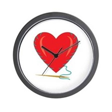 Sewing Heart Wall Clock