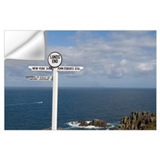 Southernmost tip of England Lands End in Cornwall  Wall Decal
