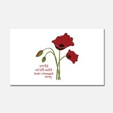 A Thought Away Car Magnet 20 x 12