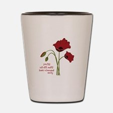 A Thought Away Shot Glass