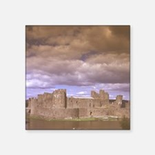 "Caerphilly Castle, 13th cen Square Sticker 3"" x 3"""