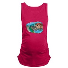 old world watermill.png Maternity Tank Top