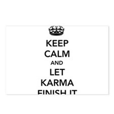 Keep Calm And Let Karma Finish It Postcards (Packa