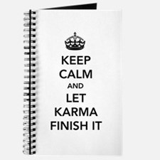 Keep Calm And Let Karma Finish It Journal