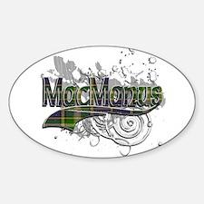 MacManus Tartan Grunge Sticker (Oval)