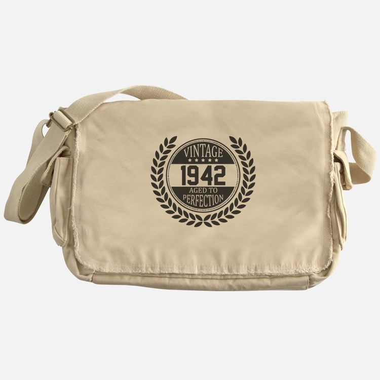 Vintage 1942 Aged To Perfection Messenger Bag