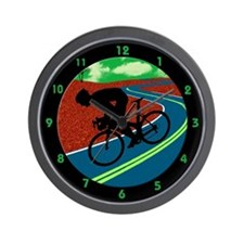 Cute Biking Wall Clock