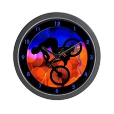 Unique Biking Wall Clock