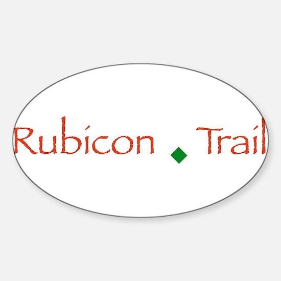 Cute Rubicon trail Sticker (Oval)