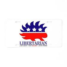 Cute Libertarian Aluminum License Plate