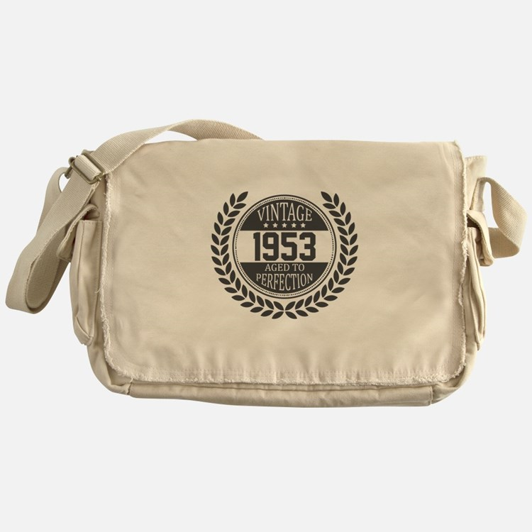 Vintage 1953 Aged To Perfection Messenger Bag