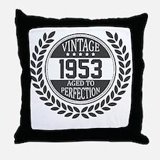 Vintage 1953 Aged To Perfection Throw Pillow