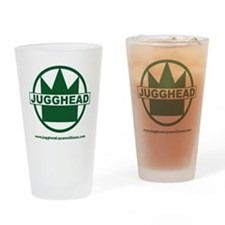 Jugghead logo with text Drinking Glass