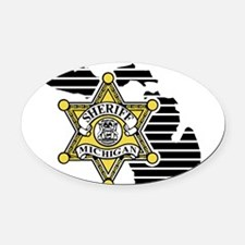 Cute Sheriff Oval Car Magnet