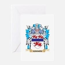 Gannon Coat of Arms - Family Crest Greeting Cards