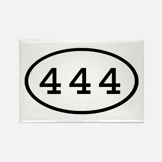 444 Oval Rectangle Magnet