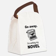 Go away. I'm writing my novel. Canvas Lunch Bag
