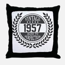 Vintage 1957 Aged To Perfection Throw Pillow