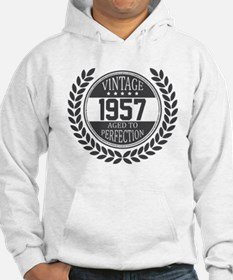 Vintage 1957 Aged To Perfection Hoodie