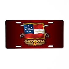 Georgia-Deo Vindice Aluminum License Plate