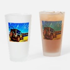 Beach Jeep Wrangler Drinking Glass