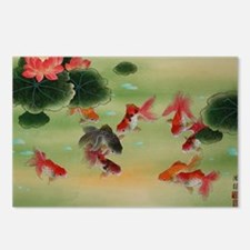 Koi Fish and Flowers Postcards (Package of 8)