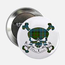 """MacLeod Tartan Skull 2.25"""" Button"""