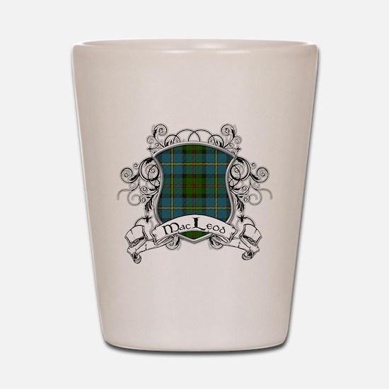 MacLeod Tartan Shield Shot Glass