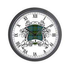 MacLeod Tartan Shield Wall Clock