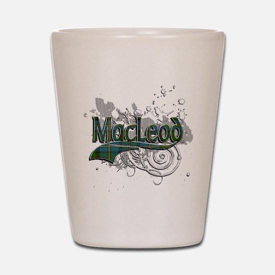 MacLeod Tartan Grunge Shot Glass
