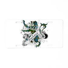 MacLeod Tartan Lion Aluminum License Plate