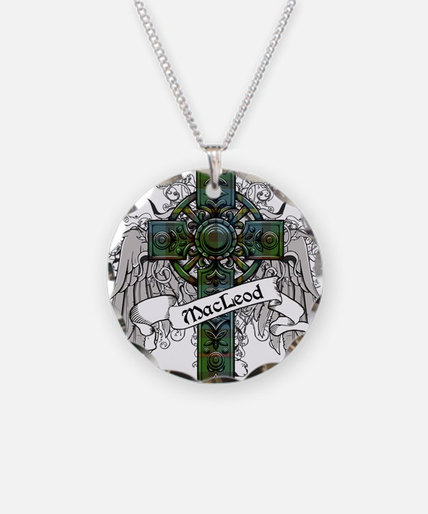 MacLeod Tartan Cross Necklace