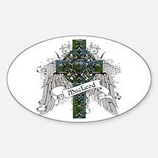 MacLeod Tartan Cross Sticker (Oval)