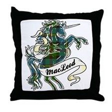 MacLeod Unicorn Throw Pillow