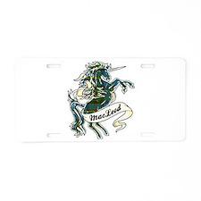 MacLeod Unicorn Aluminum License Plate