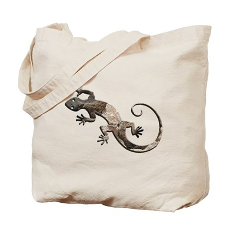 Brown Stone Gecko Tote Bag