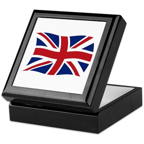 United Kingdom Flag 2 Keepsake Box