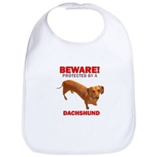 Beware Protected by a Dachshund Bib