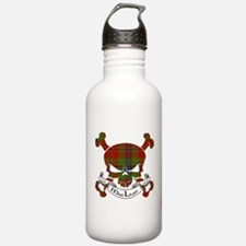 MacLean Tartan Skull Sports Water Bottle