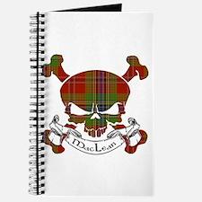 MacLean Tartan Skull Journal