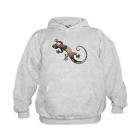 Brown Stone Gecko Kids Hoodie