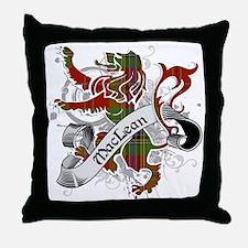 MacLean Tartan Lion Throw Pillow