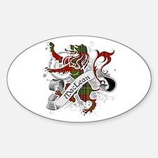 MacLean Tartan Lion Sticker (Oval)