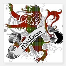 "MacLean Tartan Lion Square Car Magnet 3"" x 3"""