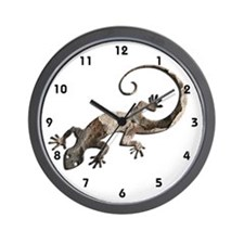Brown Stone Gecko Wall Clock